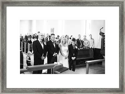 Chris And Jane Framed Print by Steven Poulton