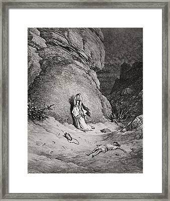 Engraving From The Dore Bible Framed Print
