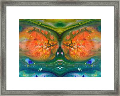 Fluid Acrylic Paint Framed Print