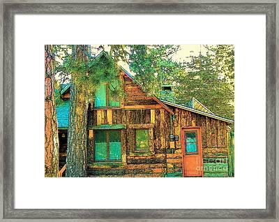 Idyllwild - Houses On The Hill Framed Print
