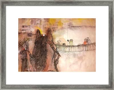 Il Palio Story Album Framed Print by Debbi Saccomanno Chan
