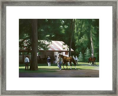 18 Minutes To Post Framed Print by Linda Tenukas