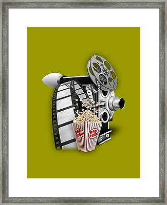 Movie Room Decor Collection Framed Print