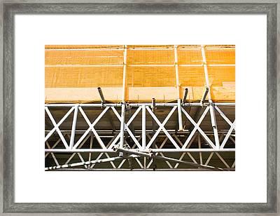 Scaffolding Framed Print by Tom Gowanlock