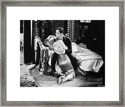 Silent Film Still: Couples Framed Print