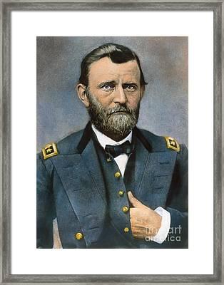 Ulysses S. Grant (1822-1885) Framed Print by Granger