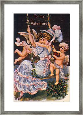 Valentines Day Card Framed Print by Granger