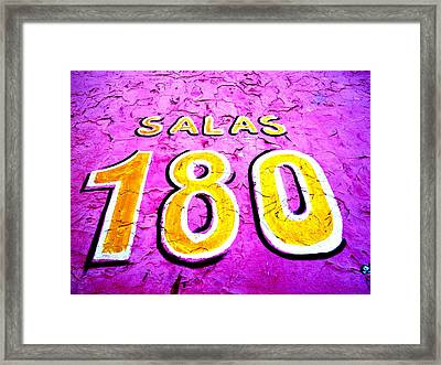 180 Santiago Pinked  Framed Print by Funkpix Photo Hunter