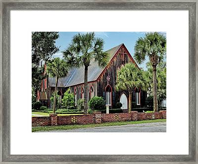 180 Year Old Church Of The Cross In Bluffton South Carolina Framed Print