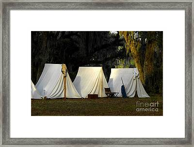 1800s Army Tents Framed Print by David Lee Thompson