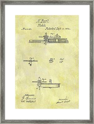 1804 Watch Patent Framed Print by Dan Sproul