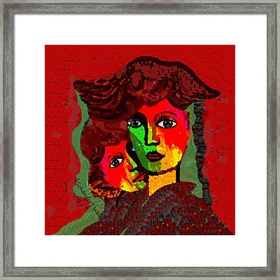 1808 - Clinging Together To Survive Stormy Weather -  2017 Framed Print by Irmgard Schoendorf Welch