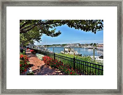 Framed Print featuring the photograph 1812 Memorial Park - Lewes Delaware by Brendan Reals