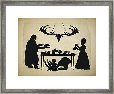 1829 Silhouette William & Frank Buckland Framed Print by Paul D Stewart