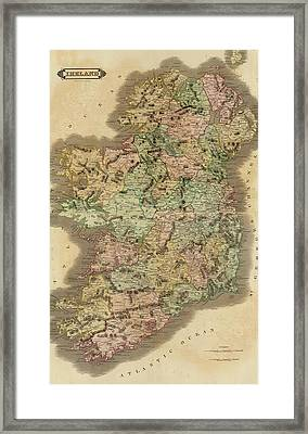 1831 Ireland Vintage Map Framed Print