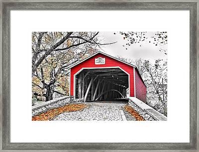 Framed Print featuring the photograph 1839 Kreidersville Bridge by DJ Florek
