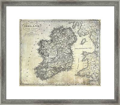 1841 Ireland Map Framed Print by Jon Neidert