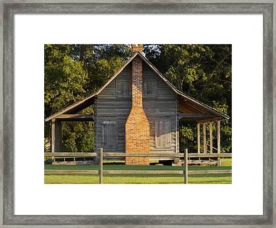 1844 Log Cabin Framed Print