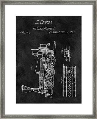 1845 Railroad Patent Framed Print by Dan Sproul