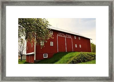 1855 Maple Dell Farm Barn Framed Print