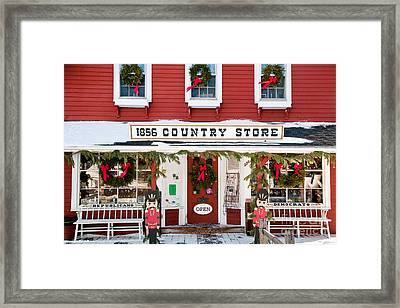 1856 Country Store Framed Print by Susan Cole Kelly