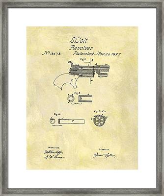 1857 Colt Revolver Design Framed Print by Dan Sproul