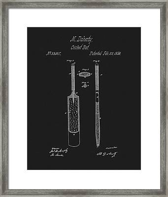 1859 Cricket Bat Patent Framed Print