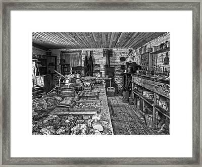 1860's Ore Assay Office Shop - Montana Framed Print by Daniel Hagerman