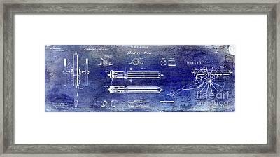 1865 Gatling Gun Patent Framed Print by Jon Neidert