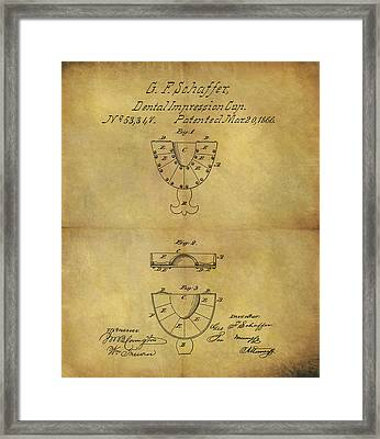 1866 Dental Mold Patent Framed Print by Dan Sproul