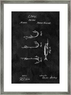 1867 Fishing Lure Patent Framed Print by Dan Sproul