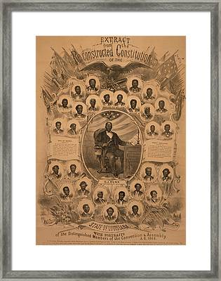 1868 Commemorative Photo Collage Framed Print
