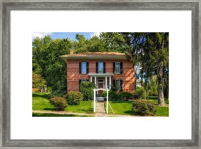 1869 Bigham House - 1 Framed Print by Frank J Benz