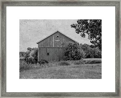 1869 Black And White Framed Print