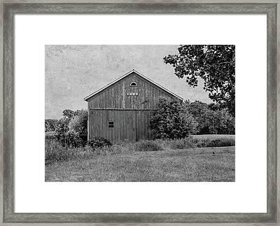1869 Black And White Framed Print