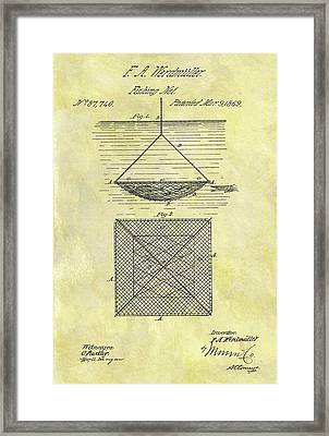 1869 Fishing Net Patent Framed Print by Dan Sproul