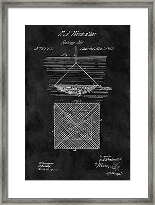 1869 Fishnet Patent Framed Print by Dan Sproul