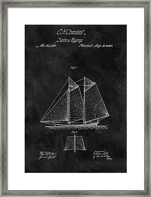1869 Sailing Vessel Patent Framed Print by Dan Sproul