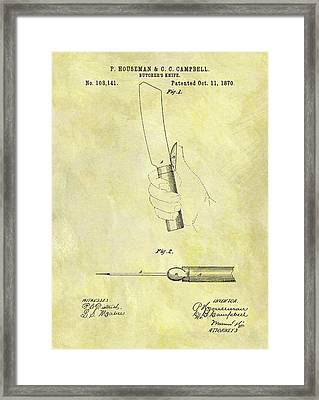 1870 Butcher Knife Patent Framed Print