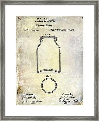 1870 Mason Jar Patent Framed Print