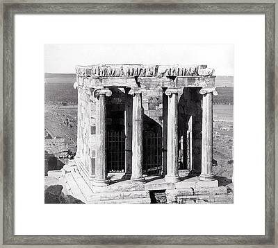1870 Temple Of Athena Nike, Athens Framed Print by Historic Image