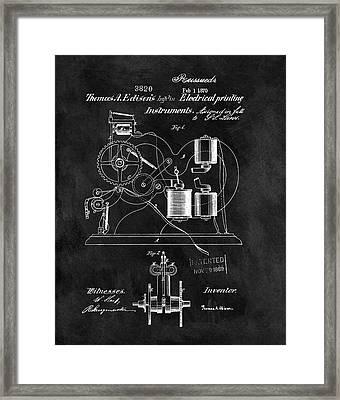 1870 Thomas Edison Print Patent Framed Print