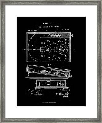 1871 Bagatelles Patent Drawing Framed Print