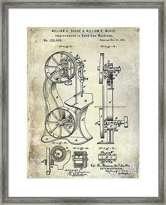 1871 Bandsaw Patent Framed Print