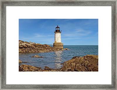 1871 Fort Pickering Light  -  Salem1871fortpickeringlight185101 Framed Print by Frank J Benz