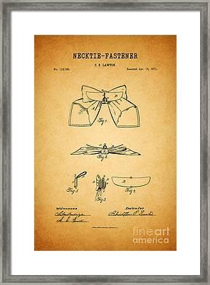 1871 Necktie Fastener 1 Framed Print by Nishanth Gopinathan