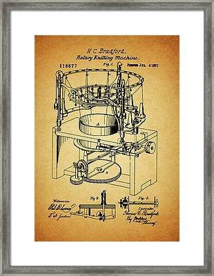 1871 Rotary Knitting Machine Framed Print by Dan Sproul