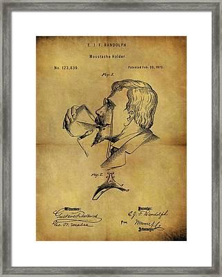 1872 Mustache Holder Patent Framed Print