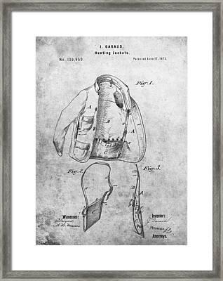 1873 Hunting Jacket Patent Framed Print