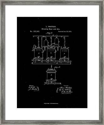 1873 Louis Pasteur Beer Brewing Patent Drawing Framed Print